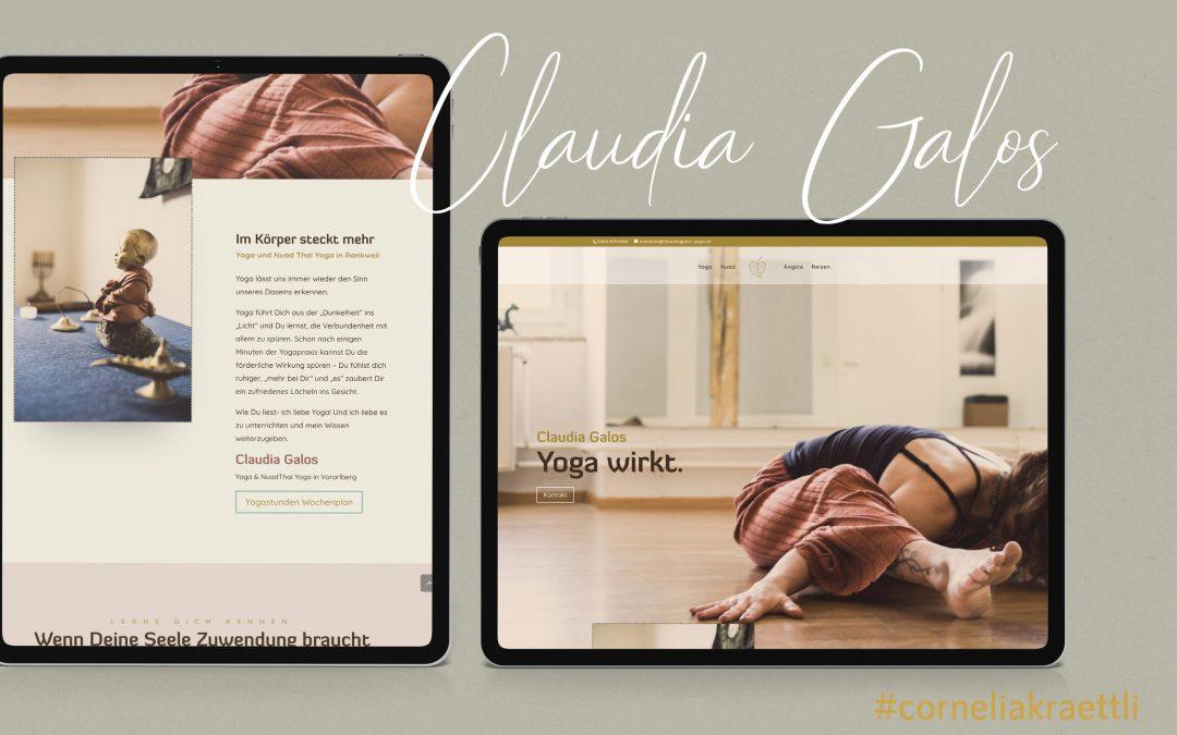 Claudia Galos, Yogalehrerin