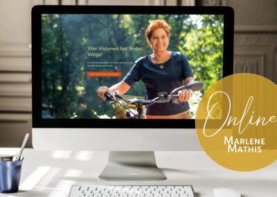 Webauftritt für Marlene Mathis