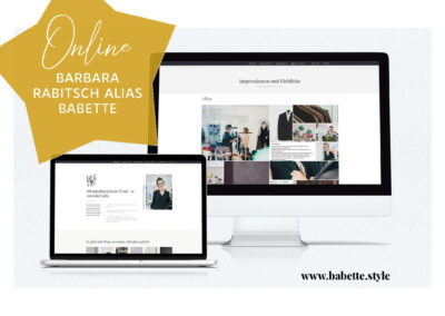 """Webseite für Barbara Rabitsch, alias """"Babette"""""""