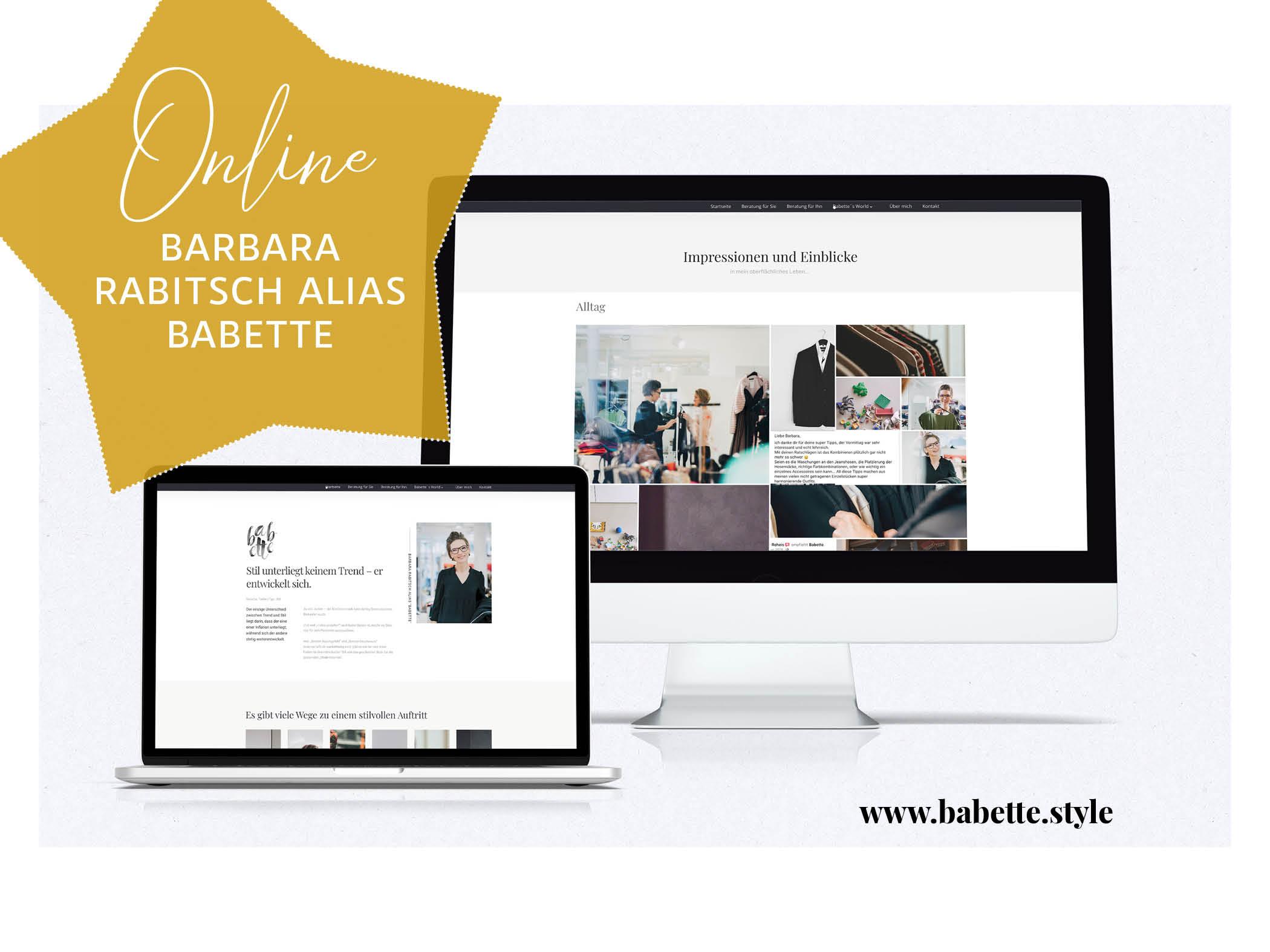 Webseite für Barbara Rabitsch, alias Babette - Farbe.Typ.Stil